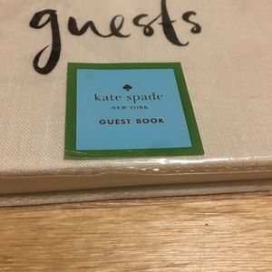 Kate spade tan well wishes guest book lined